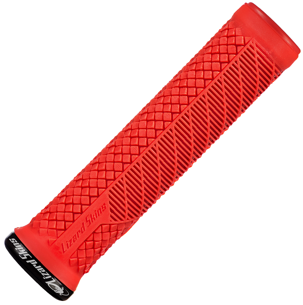 Charger Evo Lizard Skins Bike Grips Red Single Compound